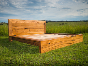 Lorne Point Solid Timber Bed by Bombora Custom Furniture - Bespoke Bed, Recycled Timber Bed, Bed, Messmate, Custom Bed, Solid Timber Bed, Timber Bed, Custom Furniture Melbourne, Furniture Maker Geelong