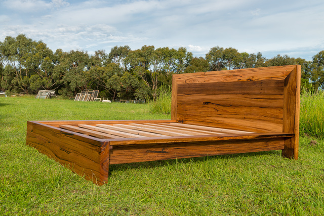 Lorne Point Bed by Bombora Custom Furniture - Bespoke Bed, Recycled Timber Bed, Bed, Messmate, Custom Bed, Solid Timber Bed, Timber Bed, Custom Furniture Melbourne, Furniture Maker Geelong