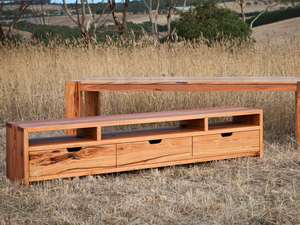 Bells Beach Messmate TV Unit by Bombora Custom Furniture - TV Cabinet, Entertainment Unit, Messmate, Solid Timber, Sydney TV Unit, Custom Tv Unit, Custom Tv Cabinet, Custom Furniture Torquay, Timber Tv Cabinet, Timber Tv Unit