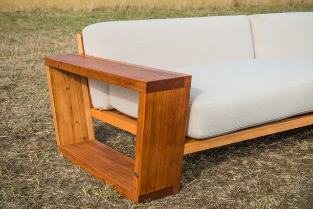Point Lonsdale Couch by Bombora Custom Furniture - Melbourne Couch, Made To Order, Custom Sofa, Timber Sofa, Timber Couch, Custom Couch, Exposed Frame Couch