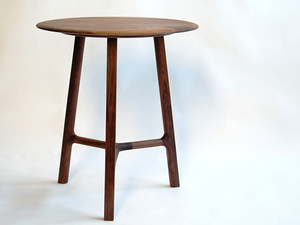 3 Legged Cricket Table by Andrew Pinnock - American Walnut, Wood, Side Table