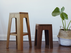 Ralph Bent Ply Stools by Asher Abergel - Stool, Plywood, Bent Ply, Kitchen