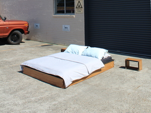 dedo bed by Sebastian Kopiec - Reclaimed, Sustainable, Timber, Steel, Build To Last
