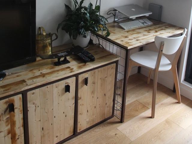 Steel & Timber Furniture Suite by Geoff Belanger - Steel, Wall Unit, Desk, Shelving