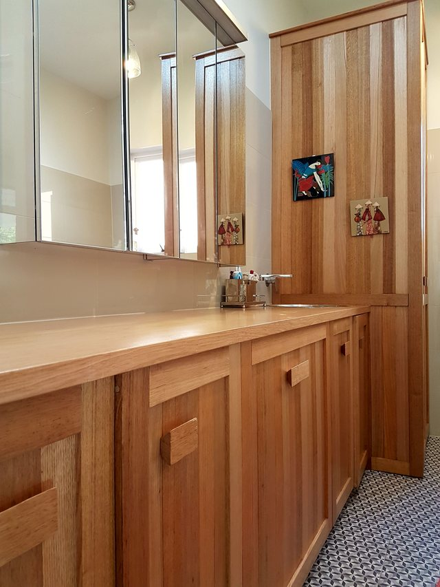 Spotted Gum Laundry by Geoff Belanger - Laundry, Cupboard, Benchtop
