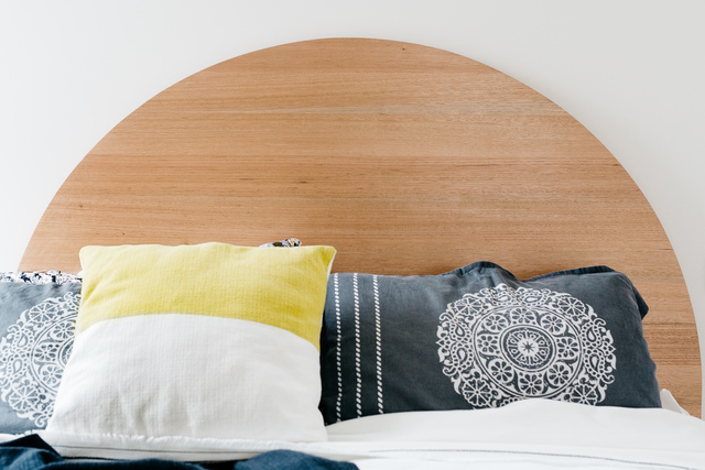 Halfmoon Bedhead by Leÿer - Timber Bed Head, Bedroom Furniture, Timber Bed, Bed Head