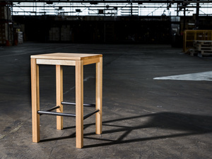 Flight Series: Barstool/Side Table by GLENCROSS FURNITURE - Barstool, Stool, Tasmanian Oak, Australian Timber, Bar, Side Table, Plant Stand, Bench Seat, Hall Table, Chair