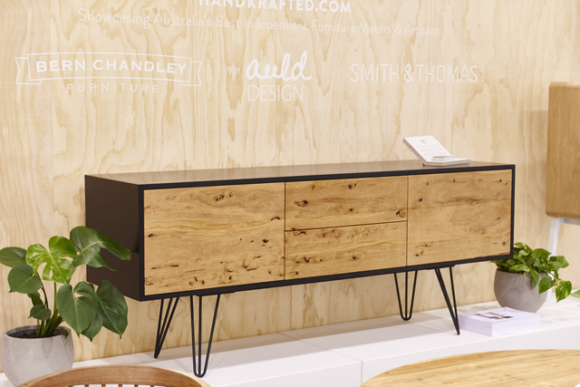 Delirium Sideboard by Auld Design - Credenza, Sideboard, Sidetable, Paperock, Black, Hairpin, Handcrafted, Handmade