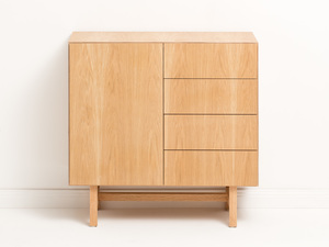 Foss Buffet by Felix Furniture - Plywood, Plywood Furniture, American Oak, Buffet, Sideboard, Drawers, Cabinet, Push Drawers, Contemporary