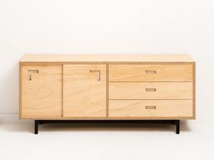 Brox Sideboard by Felix Furniture - Plywood, Plywoodfurniture, Sideboard, Buffet, Scandinavian, Drawers, Metal Frame, Contemporary, Minimal, Industrial