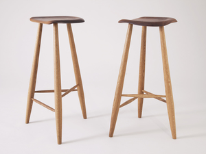 Carved stool by Jonathan West - Stool, Wood, Oak, Walnut, Tasmanian Blackwood