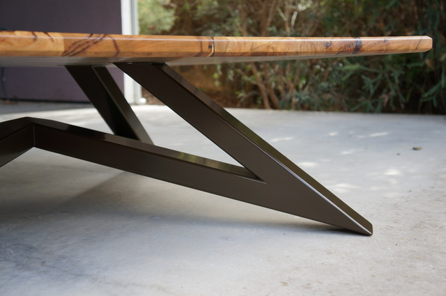 """Angles"" Coffee Table by POLYMATH - Coffee Table, Marri, Timber, Steel, Custom, Living Room"