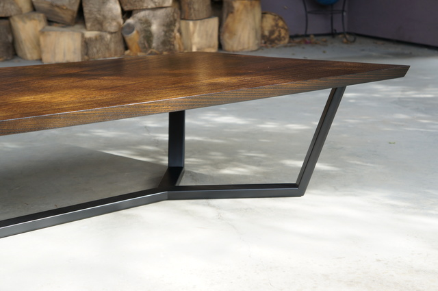 """""""Parallelogram"""" Coffee Table by POLYMATH - Coffee Table, Timber, Metal, Steel, Vic Ash, Custom"""