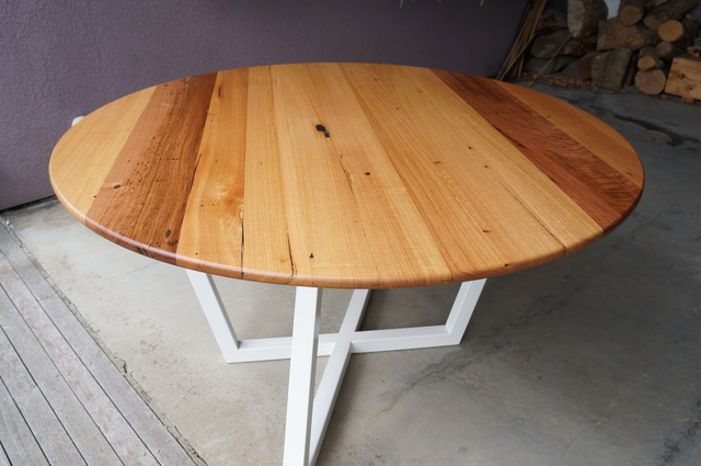"""""""Trapezoid"""" Dining Table by POLYMATH - Round Table, Dining Table, Wood, Timber, Steel, Metal, Custom"""