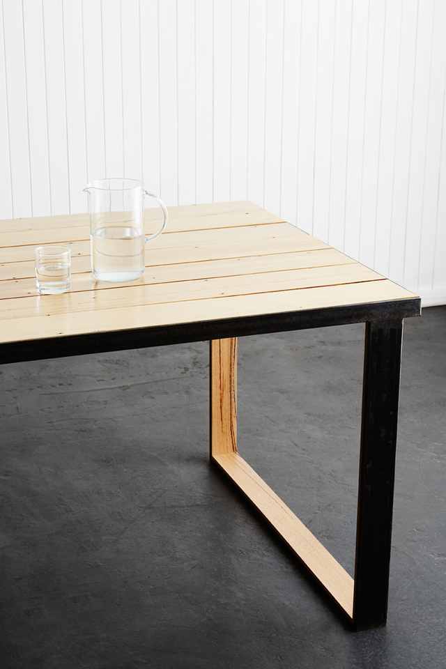 The Black Metal dining table  by Matt Ropiha - Dining Table