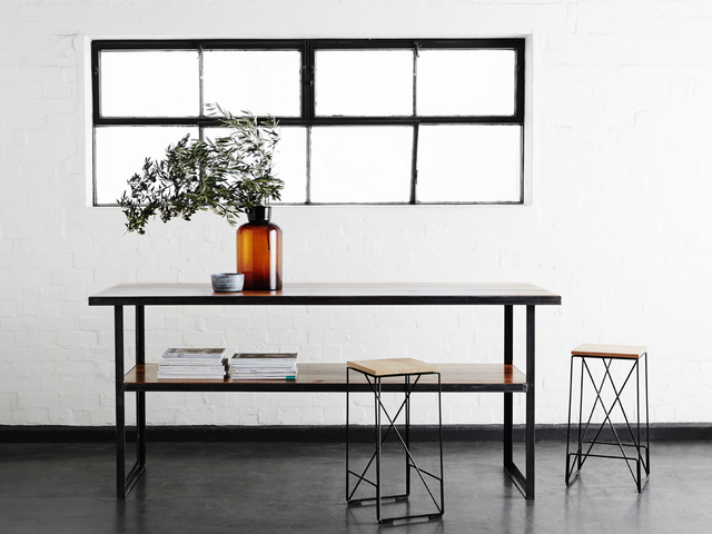 The Heavy Metal bench by Matt Ropiha - Work Bench, Dining Table, Kitchen Island