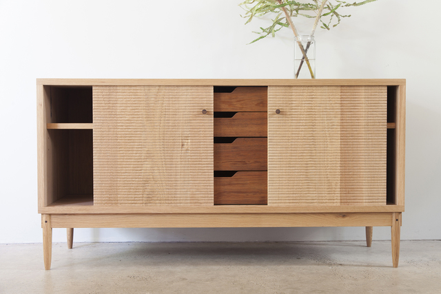 Sideboard by Jonathan West - White Oak, Tasmanian Blackwood, Sideboard, Credenza