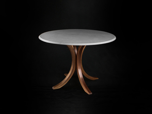 Peel Dining Table by makimaki Furniture Works - Marble, Bent Lamination, Curved, Dining Table, Round Table