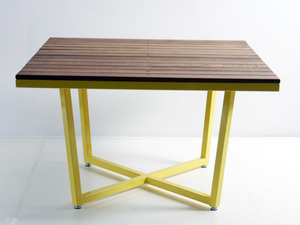 LUI Outdoor Square Table by Luke Rogers - Outdoor Table, Square Dining Table, Steel Powdercoated, Garden Table