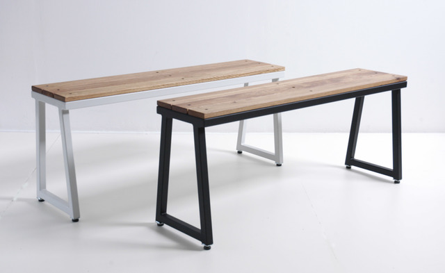 LUI Outdoor Bench Seats by Luke Rogers - Outdoor Furniture, Powdercoated Steel, Bench, Timber Bench