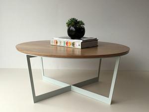 Brother Lui Coffee Table by Luke Rogers - Coffee Table, American Oak, Steel Table