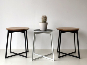 Elke Mavis Side Table by Luke Rogers - Side Table, Timber & Steel