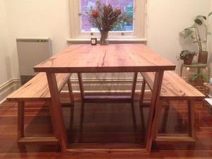 Dining Table Set by Anthony Kleine - Dining Table, Bench Seats, Bench