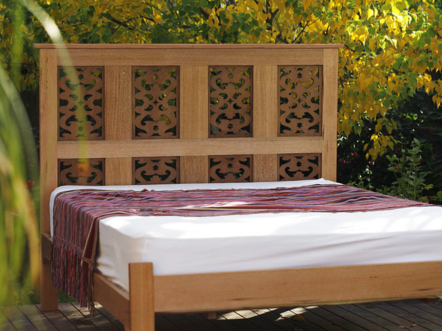 Arabesque Bed by Peter Wenborn - Bed, Middle Eastern, Sustainable Timber