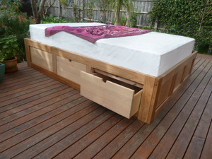 Waitara Bed with Drawers by Peter Wenborn - Bed, Storage, Sustainable Timber