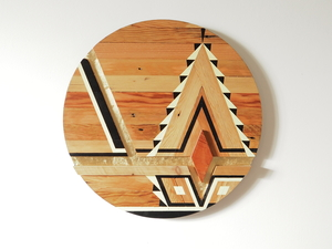 NAPLES by Flitch & Rasp - Recycled Timber, Wall Art, 3 Dimensional