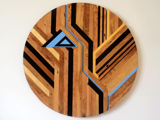 GIN CIRCLE by Flitch & Rasp - Recycled Timber, Wall Art, 3D Design