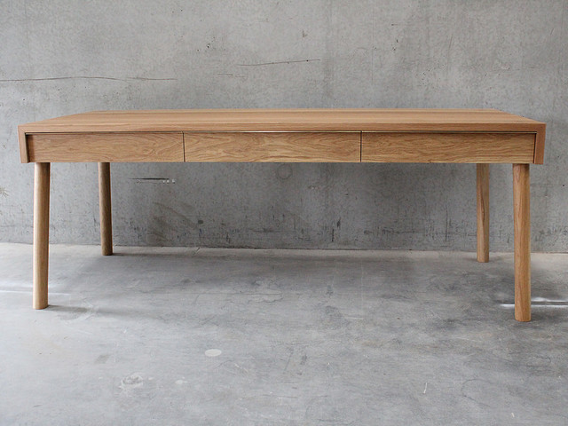 American Oak Desk  by West Wood Melbourne - West Wood Furniture, American Oak, Desk, Brass
