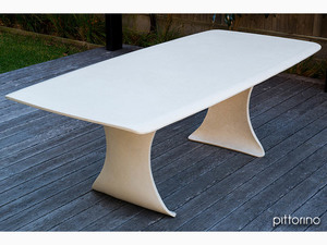 La Vela Table and Benches (Concrete) by Pittorino Designs - Dining Table, Conference Table, Outdoor Table, Benches, Concrete, GFRC, Customisable, Durable