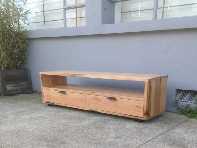Mixed Hardwood Television Unit by Anthony Kleine - Tv Init, Entertainment Unit, Credenza