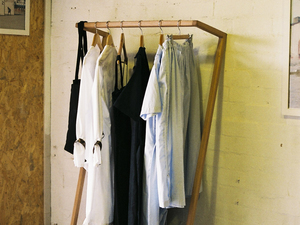 Leaning Clothes Rack by Heimur - Leaning, Clothes, Rack, Hanging