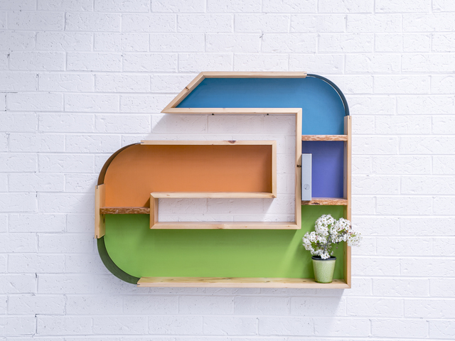 the A by Luke  Neil - Reclaimed, Recycled, Upcycled, Timber, Shelving, Shelves, Bookshelf, Metal
