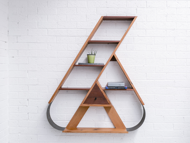 the 6 by Luke  Neil - Reclaimed, Recycled, Upcycled, Timber, Unique, Metal, Shelving, Bookshelf, Shelves