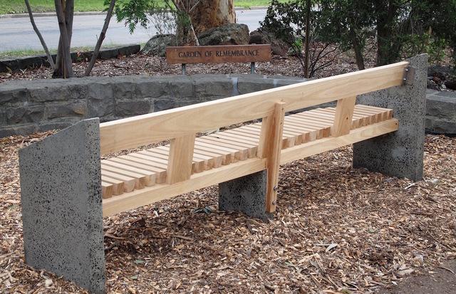 Memorial garden bench by Eco wood design - Contemporary, Unusual, Australian Timber, Blackbutt, Concrete