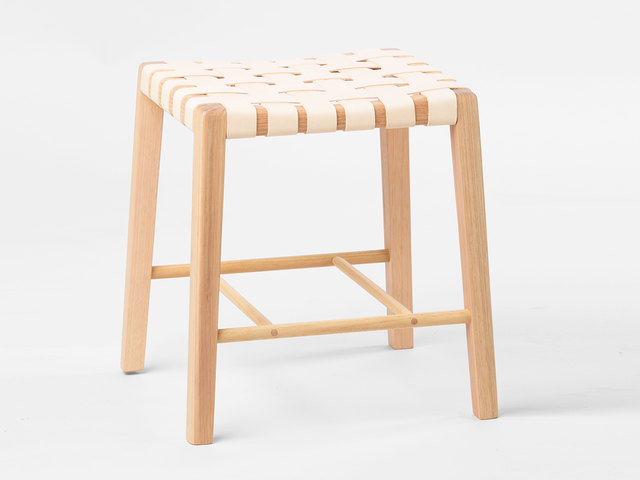 Cuba Stool Small & Tall by Beeline Design - Stool, Barstool, Seat, Leather, Timber