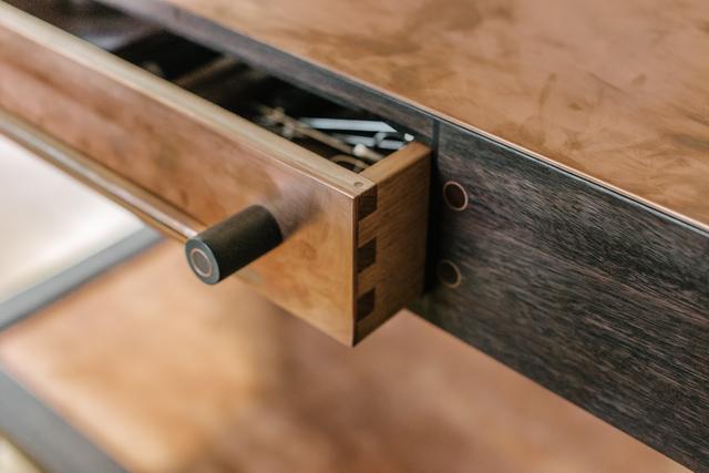 Jet Island Bench by Michael Hoffman - Copper, Fine, Wheels, Timber, Kitchen, Island, Bench