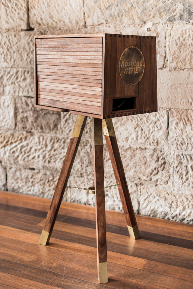 PhotoBoothMe Photo Booths by Michael Hoffman - Brass, Blackwood, Handcrafted, Fine