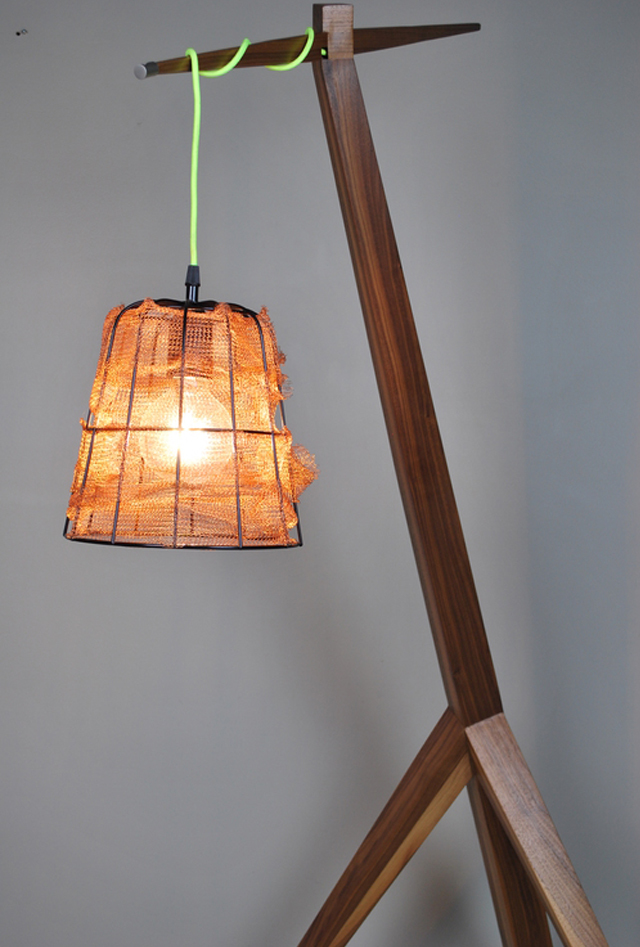 The Giraffe by Victoria Keesing Furniture Design - Lighting, Giraffe, Tall, Copper, Wood, Lights, Metal, Large
