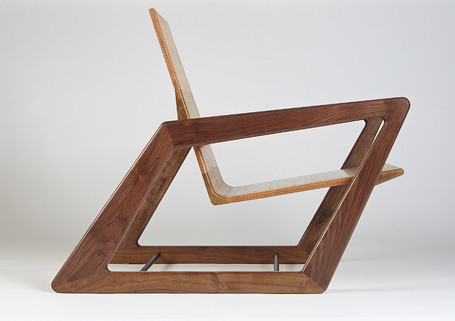 Pat Spratt armchair by David Cummins - Armchair, Sustainable, Handcrafted, Contemporary, Seating, American Walnut, American White Oak