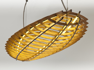 Hull pendant light by David Cummins - Pendant Light, Sculptural, Plywood, Sustainable, Handcrafted, Contemporary