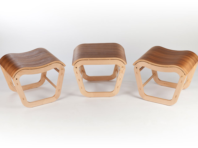 Solid timber Mode stools & table by David Cummins - Stool, Side Table, Coffee Table, Modular, Contemporary, Sustainable, Handcrafted