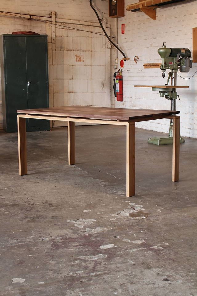 McAlester dining table by David Cummins - Dining Table, Contemporary, Sustainable, Handcrafted, Minimalist, American Walnut, American White Oak