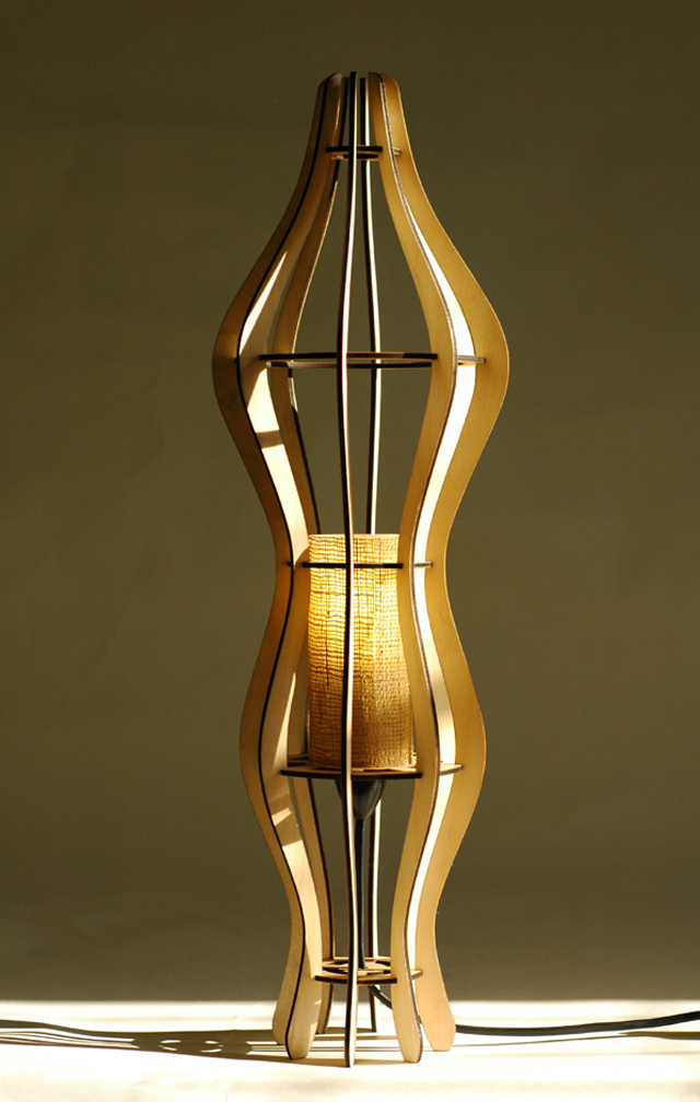 Figure table lamp by David Cummins - Desk Lamp, Lighting, Sustainable, Handcrafted, Contemporary, Plywood