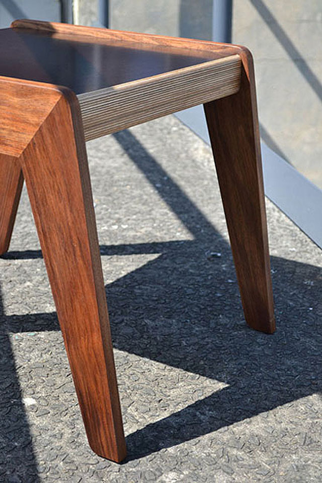 Bridge side table by David Cummins - Side Table, Tasmanian Blackwood, Form Plywood, Sustainable, Handcrafted, Contemporary