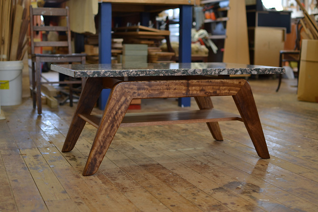 Crawford coffee table by David Cummins - Coffee Table, Granite, Handcrafted, Sustainable, Contemporary, Blackbean, Spotted Gum