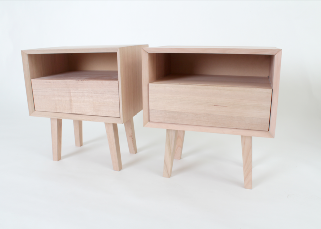 Riccardi Bedside by Jake Williamson - Victorian Ash, Bedside, Table, Drawers